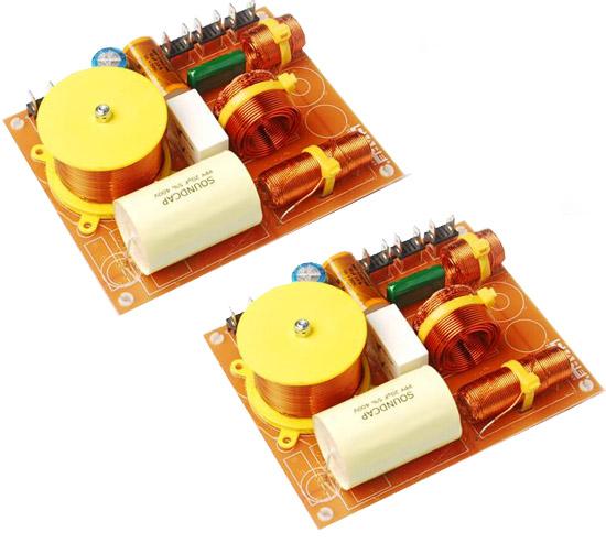 IGTEK - COPPIA CROSSOVER 3 VIE CIARE CF360 600 WATT MAX - 500 / 5000 Hz 12dB 4 OHM