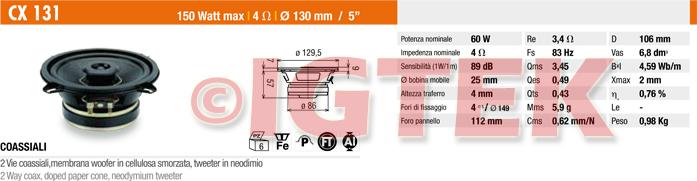 IGTEK - SCHEDA TECNICA CIARE CX131