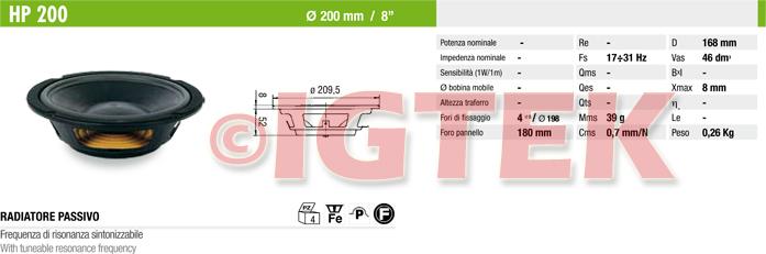 IGTEK - SCHEDA TECNICA CIARE HP200
