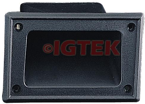 IGTEK - MANIGLIA AD INCASSO IN ABS PER BOX - 136 X 88 MM CIARE YAC300