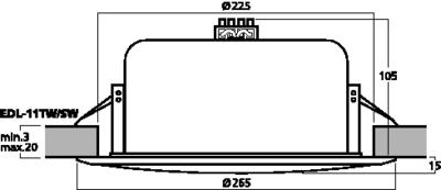 MONACOR EDL-11TW/SW