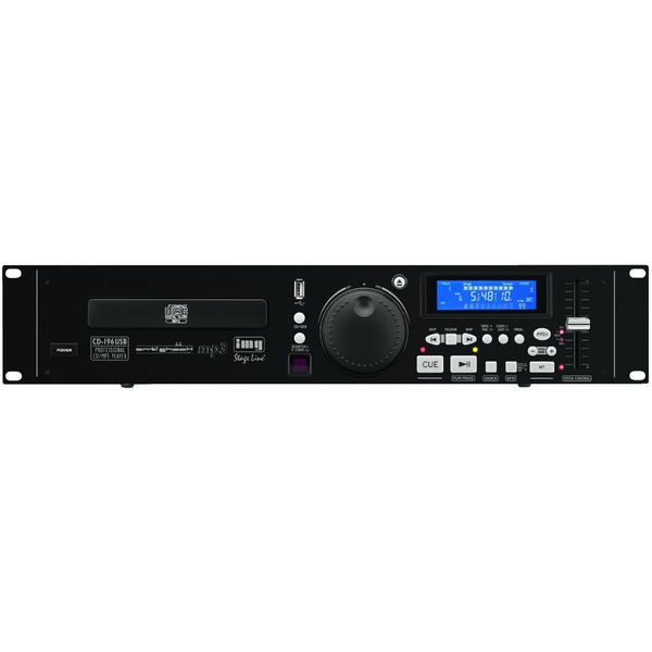 IGTEK - IMG STAGE LINE CD-196USB LETTORE PROFESSIONALE CD DJ MP3 CON USB E TELECOMANDO