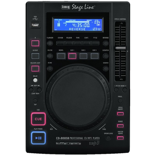 IGTEK - IMG STAGE LINE CD-80USB CONSOLLE LETTORE CD MP3 TABLETOP DJ CON USB E EFFETTI