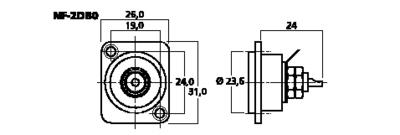 NEUTRIK NF-2DB0