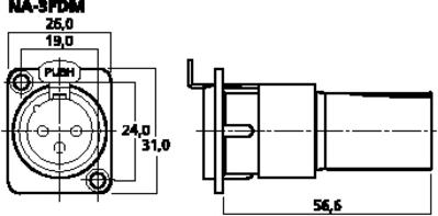 NEUTRIK NA-3FDM