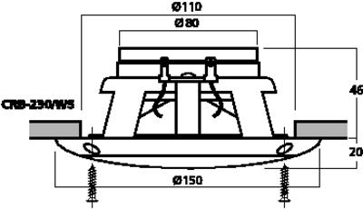 Carpower crb 230 ws coppia altoparlanti coassiali 13 cm da esterno 50 w 4 ohm - Altoparlanti da esterno ...