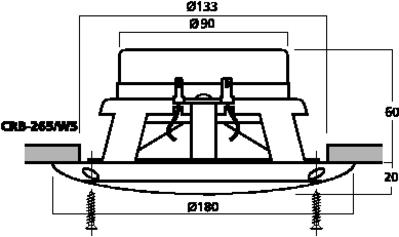 Carpower crb 265 ws coppia altoparlanti coassiali 16 5 cm da esterno 60 w 4 ohm - Altoparlanti da esterno ...