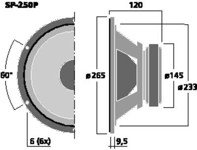 MONACOR SP-250P