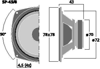 MONACOR SP-45/8