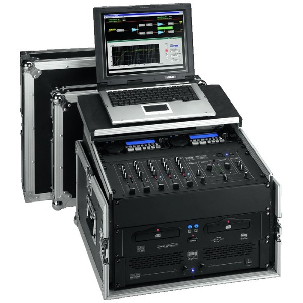 IGTEK - IMG STAGE LINE MR-106PC FLIGHTCASE DJ PER RACK 482MM CON CASETTO PER NOTEBOOK