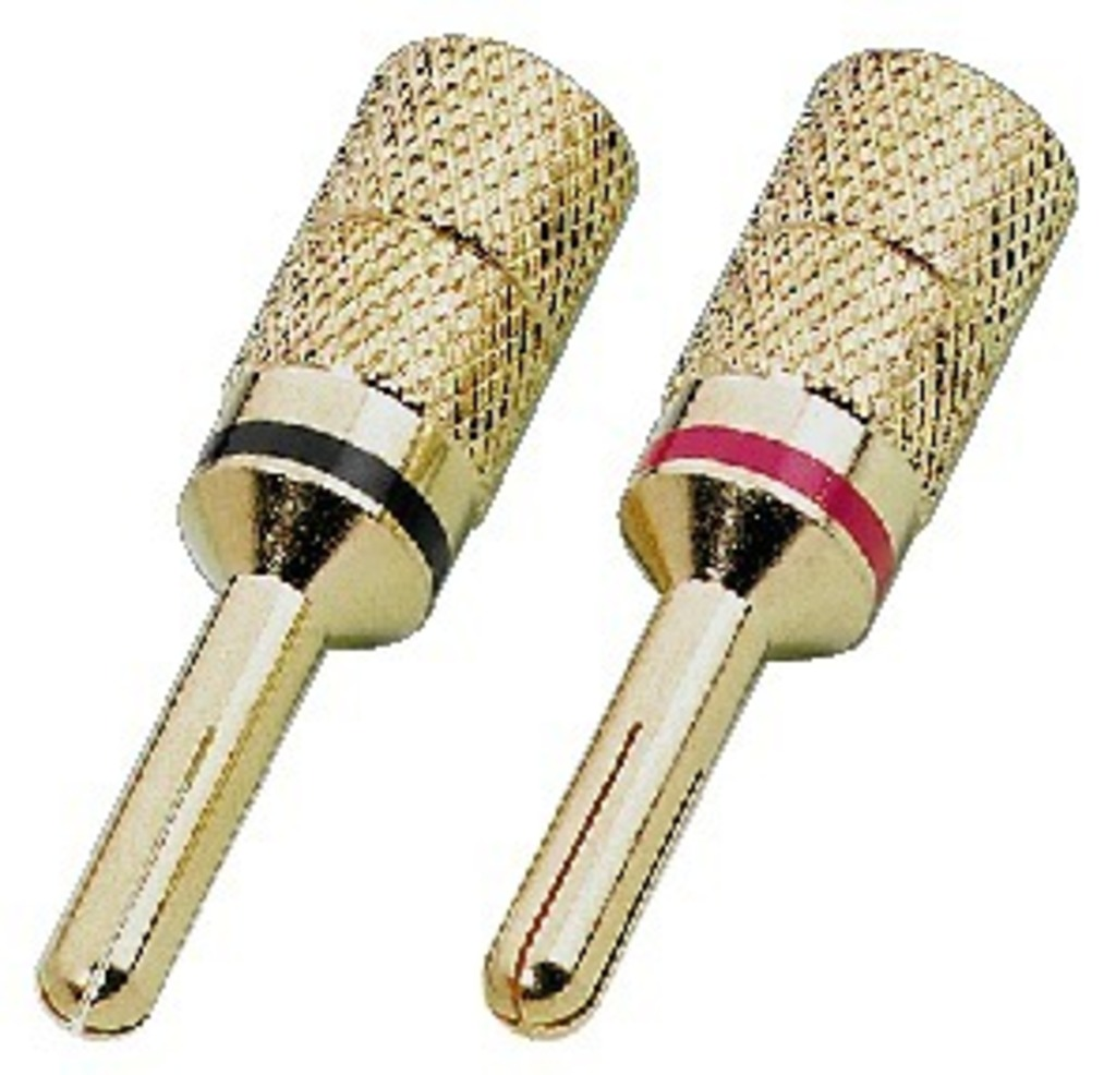 IGTEK - MONACOR SPC-425/B COPPIA CONNETTORI SPINE A BANANA 4MM - CAVI 4 MM2 -PLACATO ORO