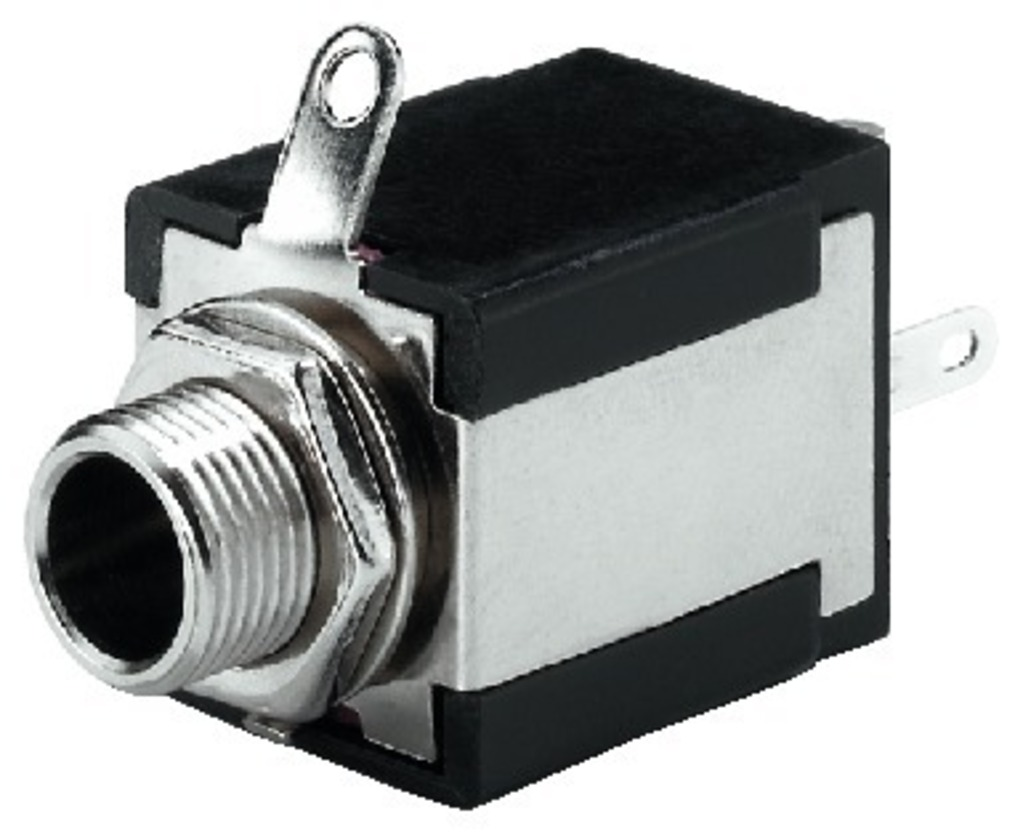IGTEK - MONACOR T-635S JACK 6,3MM FEMMINA MONO DA PANELLO -1 INTERRUTTORE -FISSAGGIO 9MM