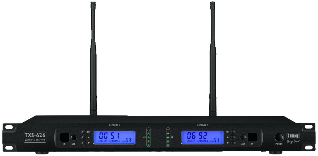 IGTEK - IMG STAGE LINE TXS-626 RICEVITORE MULTIFREQUENZA 2CH X MICROFONO 1000CH UHF RACK