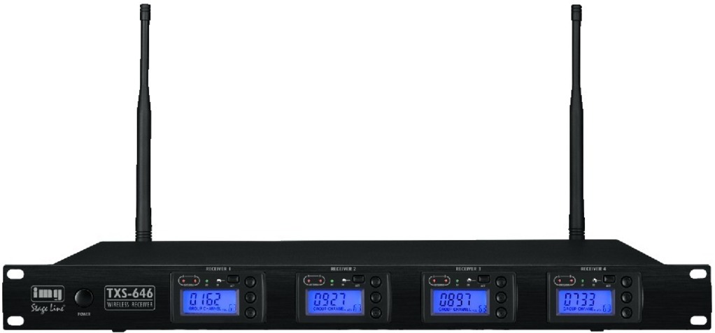 IGTEK - IMG STAGE LINE TXS-646 RICEVITORE MULTIFREQUENZA 4CH X MICROFONO 1000CH UHF RACK
