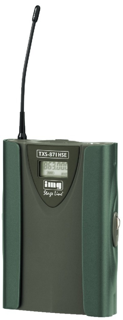 IGTEK - IMG STAGE LINE TXS-871HSE TRASMETTITORE UHF PER MICROFONO -863.125 > 864.875 MHZ