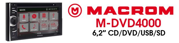 """autoradio 6,2"""" macrom m-dvd4000"""