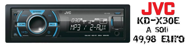 JVC KD-X30E SINTOLETTORE DIGITAL MEDIA USB/AUX