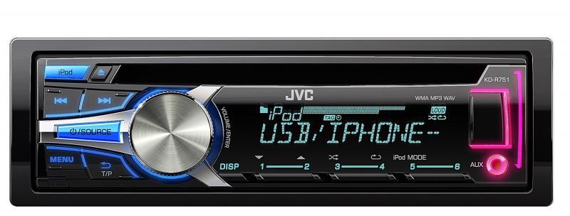 JVC KD-R751E sintolettore CD MP3 USB - ipod/iphone control