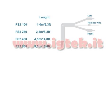 Audison Connection Fs2 450 Cavo Segnale Rca Schermato con Remote 4,5 metri NUOVO
