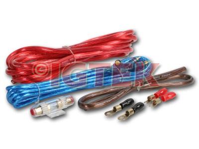 Kit Cavi Auto Completo Per Amplificatore 25 Mmq 4 Awg 1500w Max